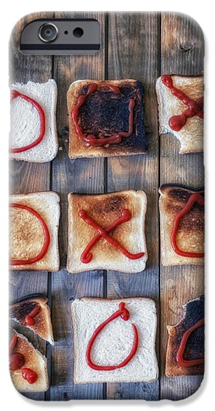Toasting iPhone Cases - Tic Tac Toe iPhone Case by Joana Kruse