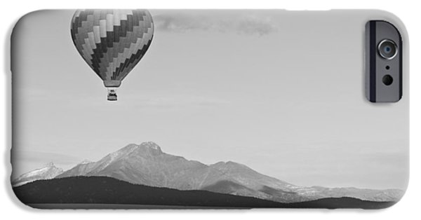Hot Air Balloon iPhone Cases - Ticket To Paradise BW iPhone Case by James BO  Insogna