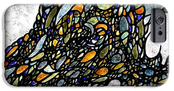 Contemporary Abstract Glass Art iPhone Cases - Tidal Abstract iPhone Case by Teresa Young