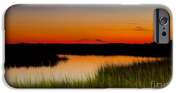 Tidal Creek iPhone Cases - Tidal Creek at Dusk James Island iPhone Case by Donnie Whitaker