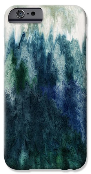 Abstract Digital Paintings iPhone Cases - Tidal Force iPhone Case by Mark Wendorf