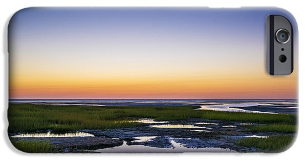 Salt Marsh. New England iPhone Cases - Tidal Pool Sunset iPhone Case by John Greim