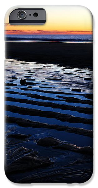 Tidal Ripples at Sunrise iPhone Case by James Kirkikis