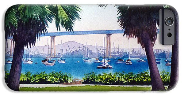 Best Sellers -  - Bay Bridge iPhone Cases - Tide Lands Park Coronado iPhone Case by Mary Helmreich