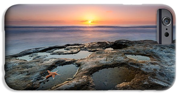 Michael Versprill iPhone Cases - Tide Pool Sunset iPhone Case by Michael Ver Sprill