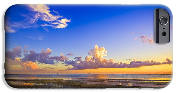 Clouds iPhone Cases - Tide Pools iPhone Case by Marvin Spates