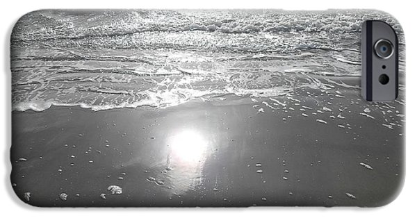 Abstract Expressionism Photographs iPhone Cases - Tide Waits For No One iPhone Case by Patrick J Murphy