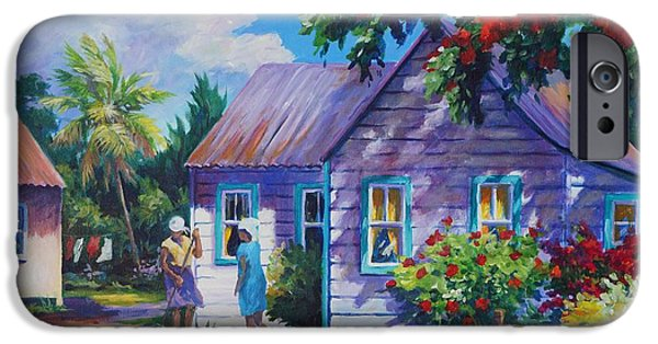 Bermudas iPhone Cases - Tidying the Yard iPhone Case by John Clark