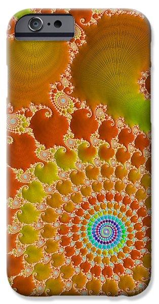 Virtual Digital iPhone Cases - Tie Dye  iPhone Case by Heidi Smith