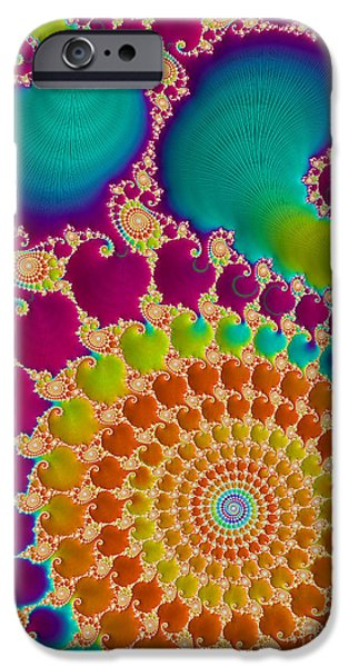 Virtual iPhone Cases - Tie Dye Spiral  iPhone Case by Heidi Smith