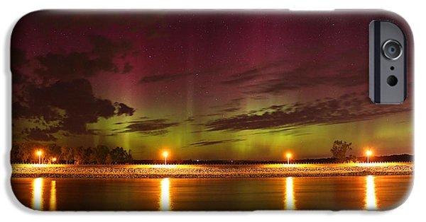 Nebraska iPhone Cases - Tie Dyed Sky iPhone Case by Chris  Allington