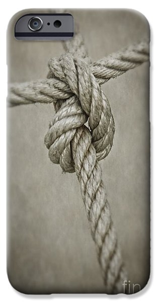 Connection iPhone Cases - Tied Knot iPhone Case by Carlos Caetano