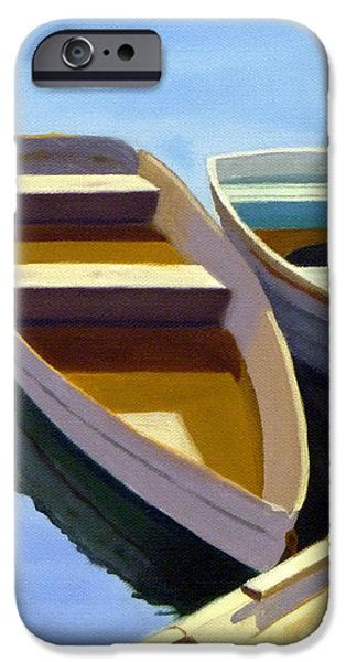 Tied Up at the Dock 2 iPhone Case by JJ Long