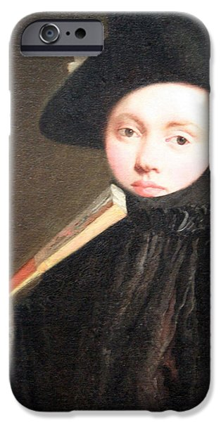 Cora Wandel iPhone Cases - Tiepolos Young Lady In A Tricorn Hat iPhone Case by Cora Wandel