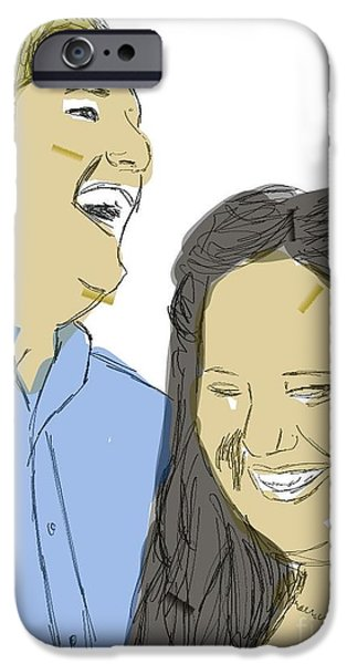 Michelle Mixed Media iPhone Cases - Tiffany and Shaun iPhone Case by Michelle Teague