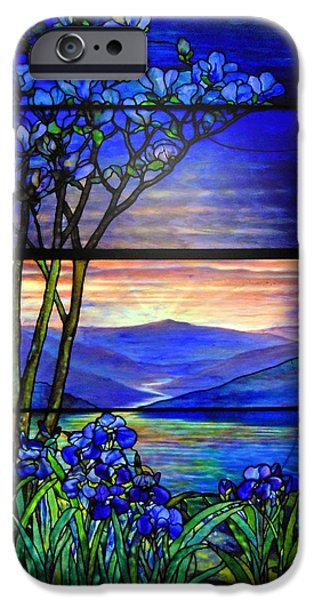 Stained Glass Windows iPhone Cases - Tiffany Beauty iPhone Case by Michael Durst