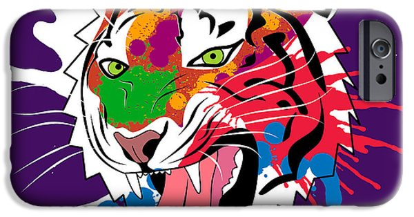 The Tiger iPhone Cases - Tiger 11 iPhone Case by Mark Ashkenazi