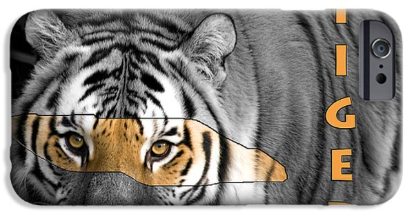 Killer B iPhone Cases - Tiger 7878 iPhone Case by Wes and Dotty Weber