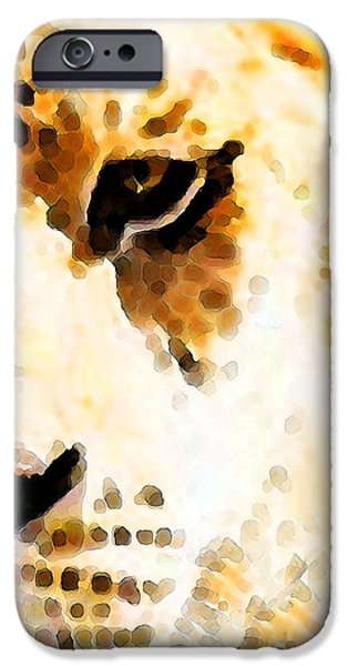 Lion Print iPhone Cases - Tiger Art - Pride iPhone Case by Sharon Cummings