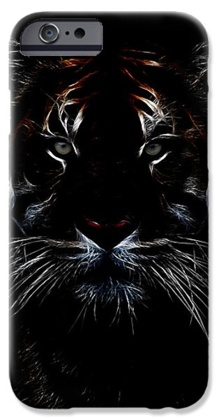 Forest iPhone Cases - Tiger Coming Out iPhone Case by Athena Mckinzie