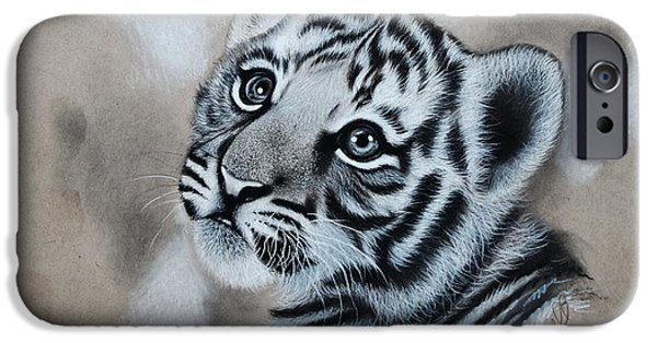 Hyperrealistic iPhone Cases - Tiger Cub iPhone Case by Samantha Howell
