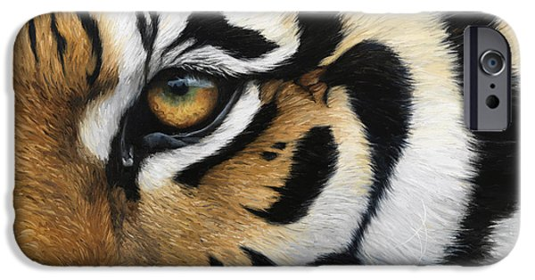 Close iPhone Cases - Tiger Eye iPhone Case by Lucie Bilodeau