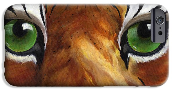 Mike The Tiger iPhone Cases - Tiger Eyes iPhone Case by Donna Tucker