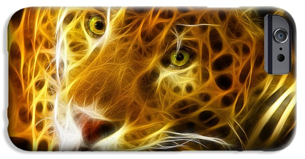 The Tiger iPhone Cases - Tiger Face  iPhone Case by Mark Ashkenazi