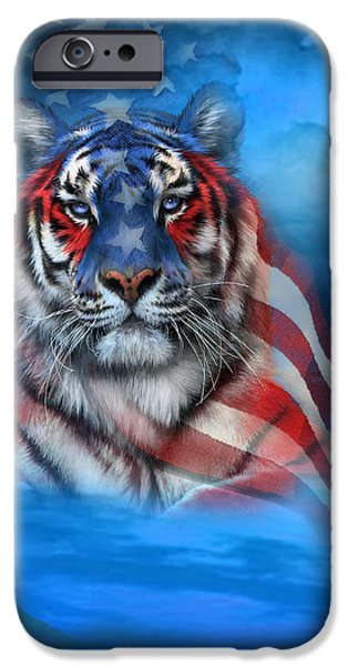 Tiger Flag iPhone Case by Carol Cavalaris