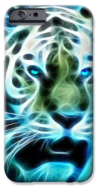 Tiger Fractal iPhone Cases - Tiger Fractal iPhone Case by Bill Cannon