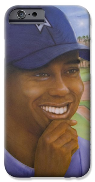 Airbrush iPhone Cases - Tiger  iPhone Case by Fritz DesRoches