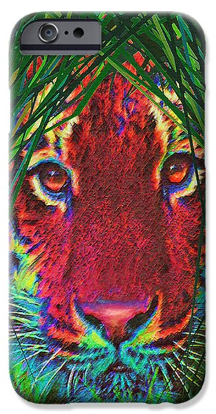 tiger in the grass iPhone Case by Jane Schnetlage