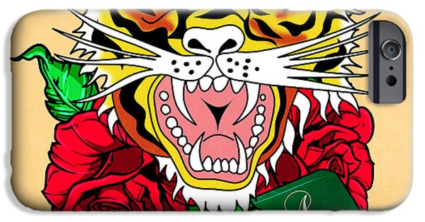 The Tiger iPhone Cases - Tiger L iPhone Case by Mark Ashkenazi