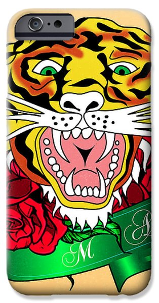 Animation iPhone Cases - Tiger L iPhone Case by Mark Ashkenazi