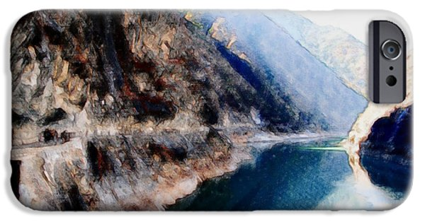Deep River County Park iPhone Cases - Tiger Leaping Gorge 2 iPhone Case by Lanjee Chee