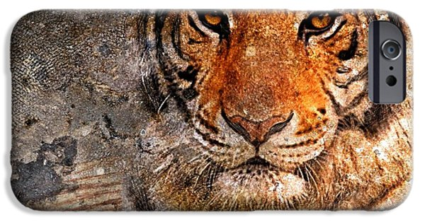 Great Mysteries iPhone Cases - Tiger Life iPhone Case by Yury Malkov