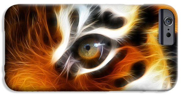 The Tiger iPhone Cases - Tiger  iPhone Case by Mark Ashkenazi