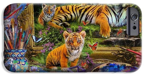 Workshop iPhone Cases - Tiger Painting iPhone Case by Jan Patrik Krasny