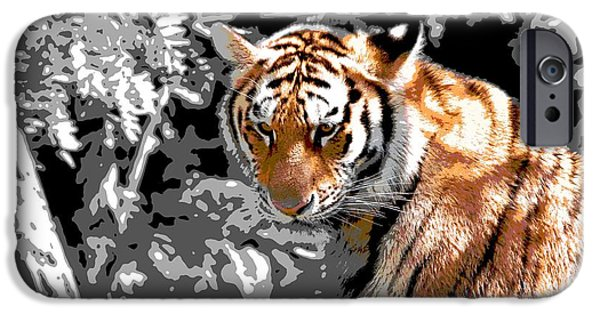The Tiger Hunt iPhone Cases - Tiger Poster iPhone Case by Dan Sproul