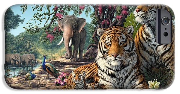 Rural iPhone Cases - Tiger Sanctuary iPhone Case by Steve Read