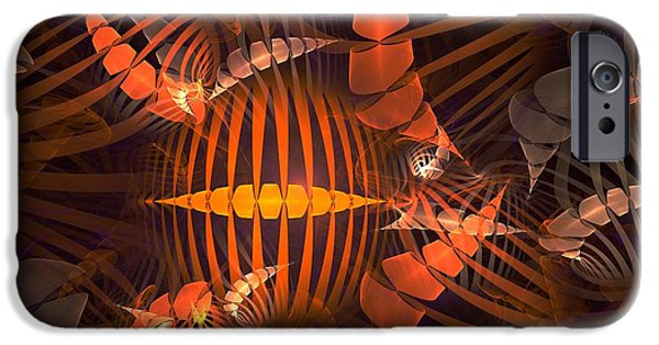 Anastasiya Mixed Media iPhone Cases - Tiger Shrimp iPhone Case by Anastasiya Malakhova