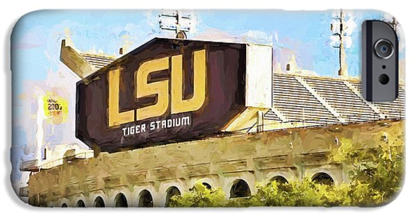 Canon iPhone Cases - Tiger Stadium iPhone Case by Scott Pellegrin