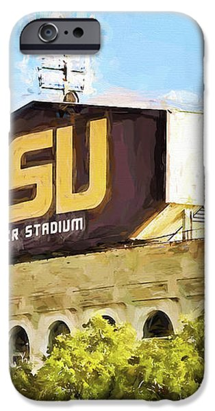 Tiger Stadium iPhone Case by Scott Pellegrin