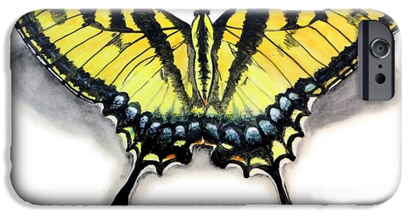 Stripes Ceramics iPhone Cases - Tiger Swallowtail iPhone Case by Nathan Ryan