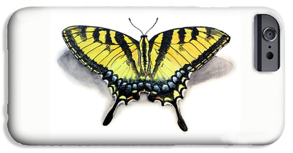 Insects Ceramics iPhone Cases - Tiger Swallowtail iPhone Case by Nathan Ryan