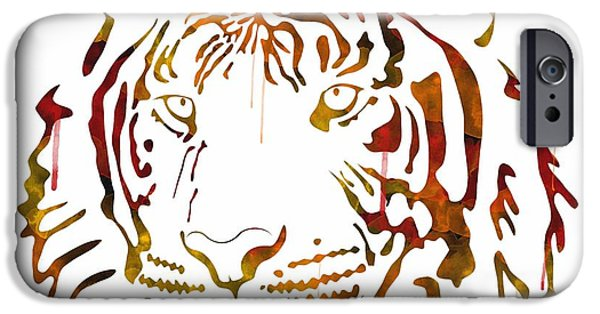 The Tiger iPhone Cases - Tiger Watercolor iPhone Case by Becca Buecher