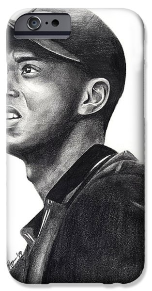 Nike Drawings iPhone Cases - Tiger Woods Driven iPhone Case by Devin Millington