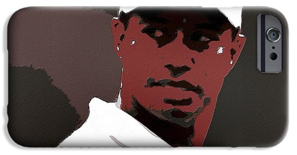 Tiger Woods iPhone Cases - Tiger Woods Poster Art iPhone Case by Florian Rodarte