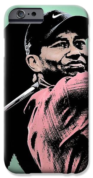 Tiger Woods iPhone Case by Tanysha Bennett-Wilson