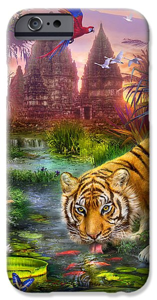 Tigers at the Ancient Stream iPhone Case by Jan Patrik Krasny